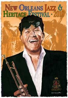 "Performance Art: ""The Chief of New Orleans"" Louis Prima 2010 New Orleans Jazz Festival Poster by Tony Bennett"