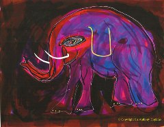 Elephant Painting by Anthony Hopkins