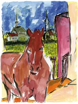 Horse by Bob Dylan from the 2010 Drawn Blank Collection