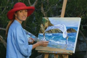 Jane Seymour painting Peace