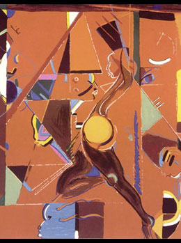 Josephine Baker Painting by Miles Davis