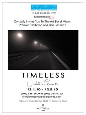 Timeless: Photographs by Julian Lennon at Art Basel Miami
