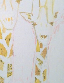 Painting of Giraffes by Tommy Tune