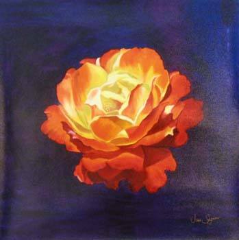 Portrait of a Gingersnap Rose painting by Jane Seymour