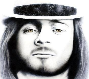 Ronnie Van Zant by Michael Cartellone
