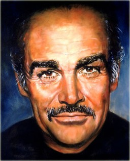 Sean Connery painting by Barbara Carrera
