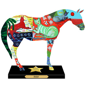 Shiloh Painted Pony Figurine by Tony Curtis