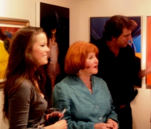 Sally Jessy Raphael (center) at Six Summit Gallery