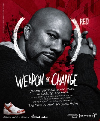 Common, Converse (PRODUCT) RED Campaign, Photograph by Bryan Adams (2007)