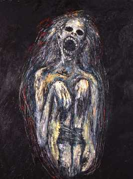 "Clive Barker, Death's Womb, Oil on Canvas, 48 x 36"", 2008"
