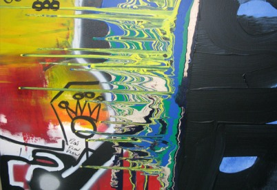 The Fuze, Painting by Swizz Beatz