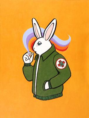 Rescue Rabbit Painting by Grace Slick