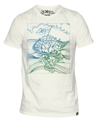 Hurley t-shirt with artwork by Brandon Boyd