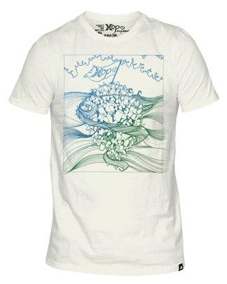 Hurley t-shirt with artwork by Brandon Boyd