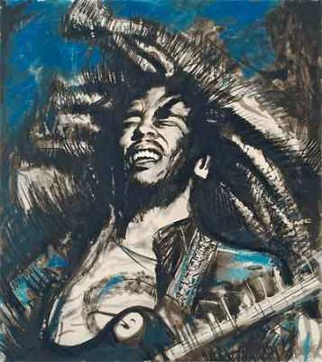 Bob Marley -  Blue - Get Up Stand Up by Ronnie Wood