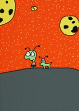 """boy and dog on planet"" by Moby"