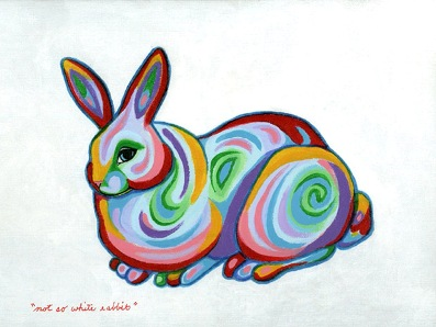 Not So White Rabbit Painting by Grace Slick