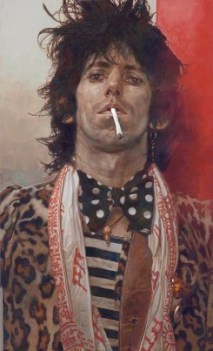 The Fugitive, Keith Richards - Painting by Sebastian Krueger