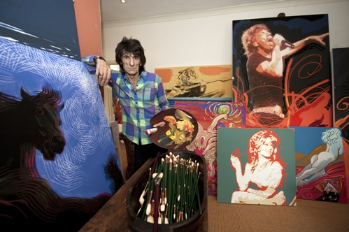 Ronnie Wood and his artwork (Credit: © Symbolic London)