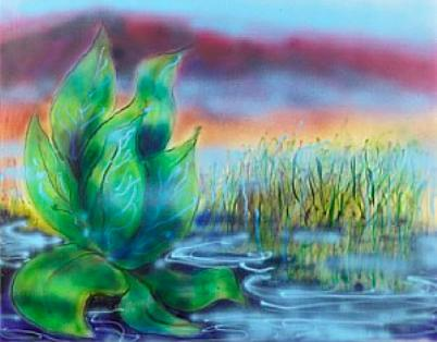 Wetlands II, Painting by Jerry Garcia