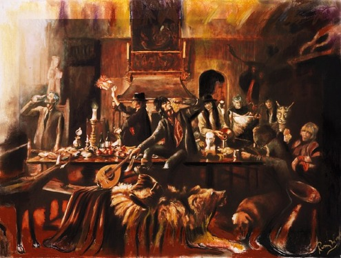 Beggar's Banquet, Painting by Ronnie Wood