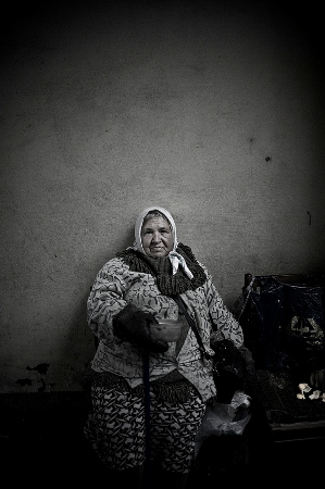 Homeless Russian Woman, Photograph by Nikki Sixx