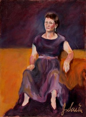 """Seated Woman (For Rothko)"" painting by Jerry Garcia"