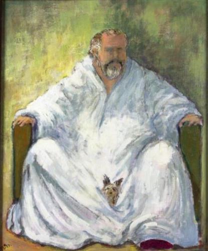 Self Portrait Painting by Orson Welles