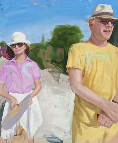 Steve and Ann, Painting by Carole Bayer Sager (Actor Steve Martin and his wife Anne Stringfield)