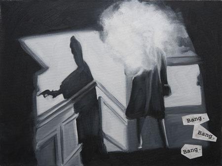 Bang, Bang, Bang, painting by Eve Plumb
