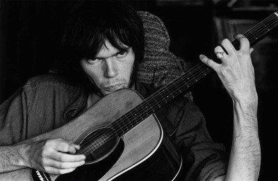 Neil Young at Stephen Stills house, Studio City, 1970, Photograph by Graham Nash