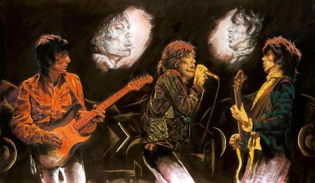 Stones Raw Panels II – 2012, by Ronnie Wood