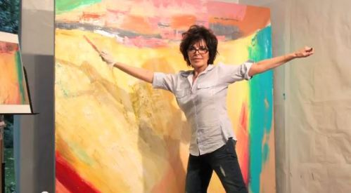 Carole Bayer Sager in her Painting Studio (Video Screenshot)