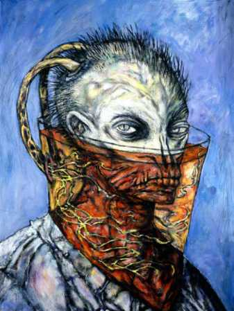 Christopher Carrion In Old Age, 1999, Painting by Clive Barker
