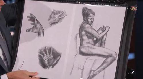 Artwork by Terry Crews - Jimmy Fallon Show