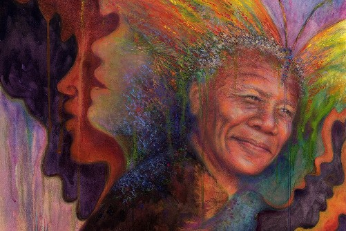 Transformation - Nelson Mandela, painting by Kim Novak