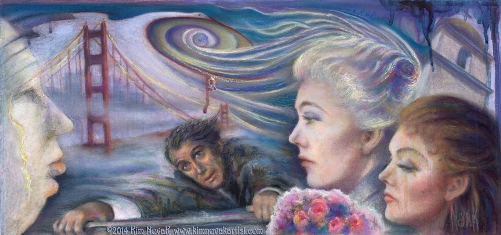 Vertigo / Vortex of Delusion painting by Kim Novak