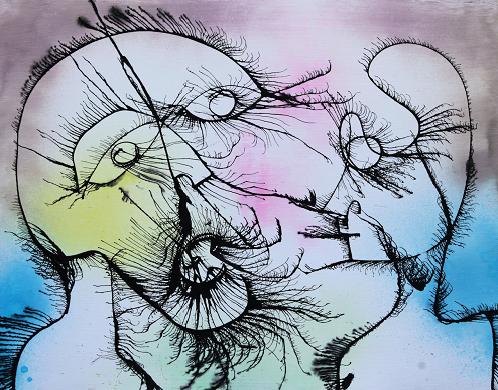 The Call, 2015, Mixed Media on Canvas by Joseph Arthur