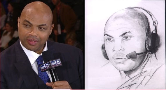 Jeremy Evans sketch of Charles Barkley
