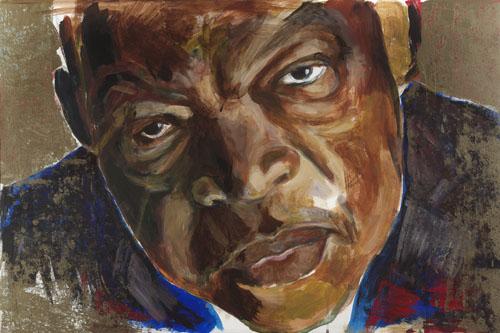 John Lewis: Painting by Joan Baez