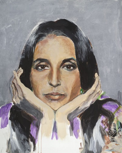 Joan Baez Self Portrait Painting