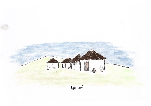 Qunu, Mvezo, drawing by Nelson Mandela
