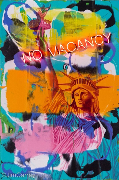 No Vacancy, painting by Jim Carrey