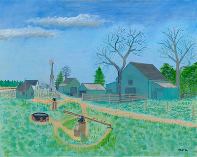 Painting by Jimmy Carter, Boyhood Farm, Source:The Carter Center