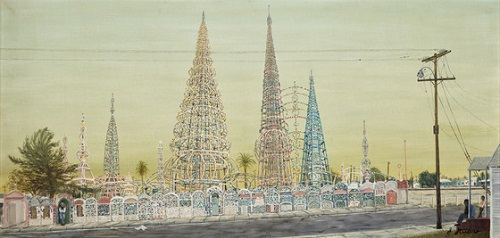 Watts Towers by Gloria Stuart