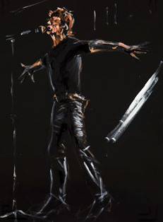 Out of Control, Mick Jagger by Ronnie Wood, from the Paint it Black series