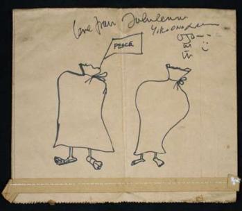 Bag drawing by John Lennon