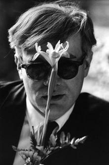 Andy Warhol (with Flower) by Dennis Hopper