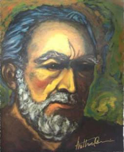 Zorba painting by Anthony Quinn
