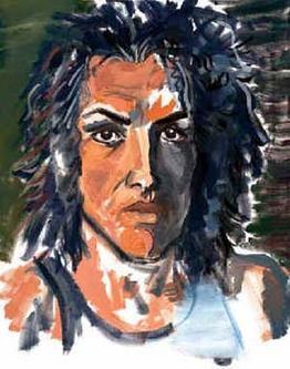 Paul Stanley self portrait painting
